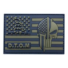 Blue and Grey D.M Punisher Spartan Gadsden American Flag Patch Made & Sold by Miltacusa® Specs High Quality PVC Rubber Patch Size: x inch Hook Backing (Loop Not Included) Funny Patches, Velcro Patches, Flag Patches, Cool Patches, Tactical Patches, Tactical Gear, Tactical Knives, 300 Blackout Pistol, Soldier Drawing