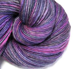 Handspun Yarn Thick and Thin Single Blue Faced Leicester 'Breaking curfew'