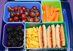 healthy school lunch ideas for kids - Grapes, goldfish crackers Kids Lunch For School, Healthy Lunches For Kids, Snacks For Work, Lunch Snacks, Healthy Snacks, Healthy Recipes, Lunch Box, School Menu, Healthy Eating