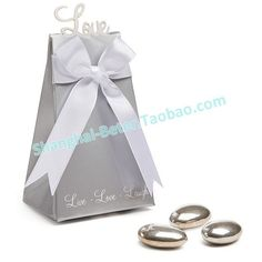 Silver Forever Love Wedding Candy Box
