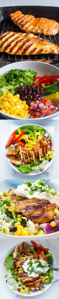 Chipotle's Chicken Burrito Bowl with Cilantro Lime Rice - 15 Most Influential Chipotle Copycat Recipes | GleamItUp