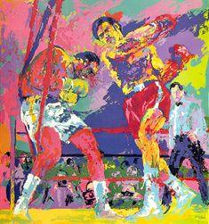 Modern Art Print LeRoy Neiman Amphitheatre At Riviera Wall Decor on Canvas 24x30