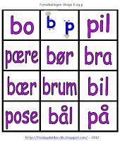 FredagsKilden: NORSK - Undervisningsmateriell 1-17 Bingo, Grammar, Education, Tips, First Grade, Onderwijs, Learning, Counseling