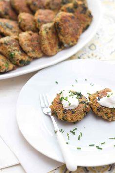 Tortitas de espinaca, quinoa y semillas de chía: