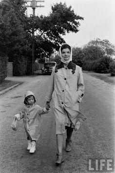 Jackie Kennedy with Caroline Kennedy