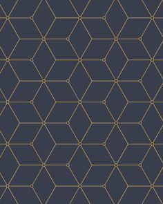 Geo Hex Wallpaper A classic geometric design elevated to current standards. Perfectly classic yet cu Wallpaper Paste, Vinyl Wallpaper, Pattern Wallpaper, Peelable Wallpaper, Wall Patterns, Textures Patterns, Motif Art Deco, Futuristic Interior, Geometric Wallpaper