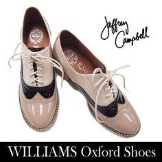 【楽天市場】【特価】Jeffrey Campbell ジェフリーキャンベルWillams オックスフォード フラットシューズWillams Oxford shoes Taupe/Black/Beige Patent:urban and rural