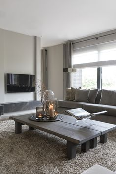 Hall And Living Room, Living Room Grey, Cozy Living, Living Room Decor, Living Furniture, Furniture Design, Beautiful Interiors, Cozy House, Living Room Designs