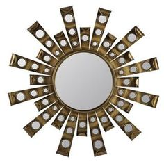 @Overstock.com - Paris Mirror - The Paris Mirror will add visual interest to any decor. This striking, fashionable Antique Gold Metal wall mirror will enhance any room's motif.  http://www.overstock.com/Home-Garden/Paris-Mirror/8410714/product.html?CID=214117 $142.99