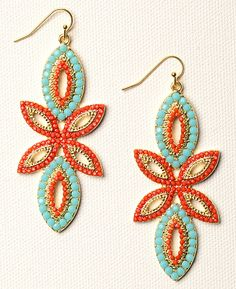 A great pair of colorful earrings that has a boho chic feel- would love to pair this with a spring dress or even just a pair of skinny jeans and a sweater.