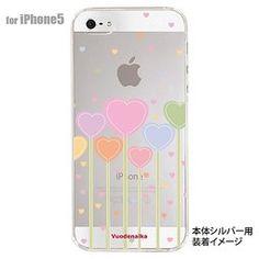 露天拍賣 日本究極!日本製【iphone5 手機保護殼 背蓋 繽紛系列】北歐風格 22 愛心朵朵 透明
