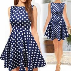 Buy Sweet Note Dotted Sleeveless Dress at YesStyle.com! Quality products at remarkable prices. FREE WORLDWIDE SHIPPING on orders over US$35.