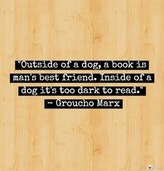 Books - [ Groucho was a genius ... and just a little bit goofus. -PSC]