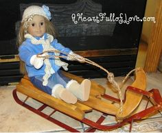 Winter Gear and Sled for American Girl Dolls - A Heart Full of Love