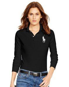 Skinny Fit Long-Sleeve Polo - Polo Ralph Lauren Polo Shirts - RalphLauren.com