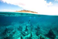 Underwater Buddha in Bali
