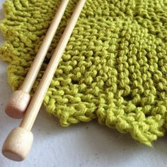 Trio of Knitted Dishcloths