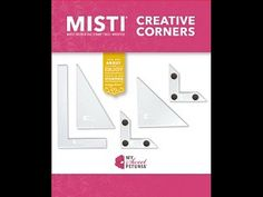 Creative Corners Positioning Pieces for Precision Stamping; Set Includes 2 L-Shaped Magnetic Pieces; from The Designers of The Misti Stamping Tools and The Cut-Align Rulers, Card Making Tips, Making Ideas, Card Making Techniques, Stamping Tools, Easy Watercolor, Card Tutorials, Edge Design, Petunias, Creative Crafts