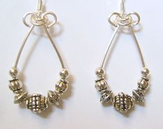 Elegant simple-silver-stash-earrings you can make w/easy instructions by @divaonline1 #crafts