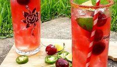 Very Cherry Simple Syrup | North-West Grown Sweet Cherries | TASTYBITS Simple Syrup Recipe Drinks, Vegan Gluten Free, Vegan Vegetarian, Cherry Syrup, Homemade Lemonade, Sweet Cherries, Organic Sugar, North West, Mason Jars