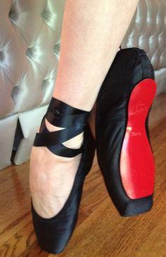 Louboutin pointe shoes