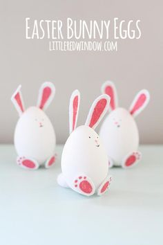 DIY Easter Bunny Eggs | These charming little bunnies are so easy to make!