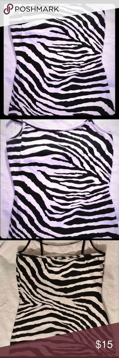 Express Cami With Zebra Print Built In Bra 🦓 This top Speaks for itself it's a part of that express signature collection, I have MANY colors, few design printed ones, if interested check out my other listings or message me if you have a specific color of interest and I can check for you Express Tops Camisoles