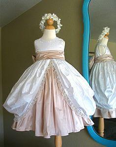 flowergirl dress | Embellishing the Flower Girl's Dress