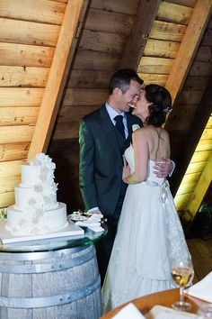 Mmm wedding cake!!  @palermobakery #cake #rustic #barn #PeronaFarms