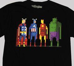 8 Bit Avengers Tee. Show your inner geek in style.