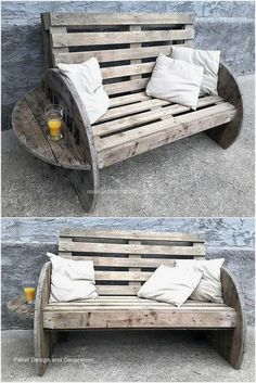 DIY ideas for wooden pallet projects Pallet furniture projects furniture Diy Garden Furniture, Diy Pallet Furniture, Diy Furniture Projects, Rustic Furniture, Furniture Design, Palette Garden Furniture, Modern Furniture, Antique Furniture, Pallet Diy Decor
