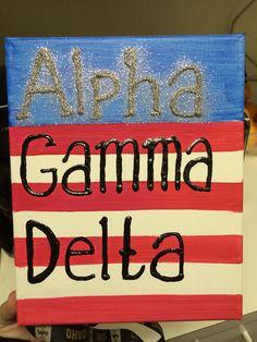 Alpha Gamma Delta America Canvas