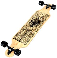 Amazon.com : Atom Longboards Bamboo Drop Through Longboard, Tiki, 40-Inch : Sports & Outdoors