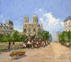 'Notre Dame'  (Artist: Erich Paulsen, was born in the small town of Treuenbrietzen near Berlin)