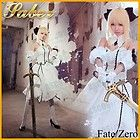 Fate zero Fate Stay Night Saber Lily Cosplay Costume White Dress By ASCOSing - CosplayDresses.com