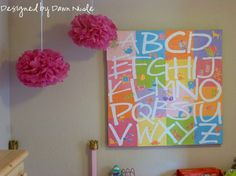 I love this.  It would be so cute in a child's bedroom or a playroom.  ♥♥♥