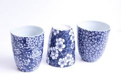 Blue ceramic cup by Platane