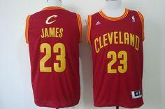 Cleveland Cavaliers #23 LeBron James Revolution 30 Swingman Red Jersey