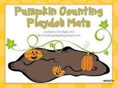 Freebielicious: Pumpkin Counting Playdoh Mats!