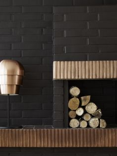 Black & Bronze Black and Metallic Interior Inspiration from Holman Specialist Paints Specialist Paint, Modern Interior Design, Color Trends, Firewood, Interior Inspiration, Living Spaces, Living Room, Wall Lights, House Styles