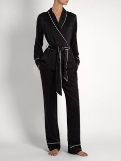 44fb1a8a53 Odette Silk Satin Pyjama Set