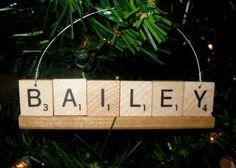 Personalized Scrabble Ornament