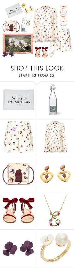 """Secret summer garden"" by juliabachmann ❤ liked on Polyvore featuring Ben's Garden, Garden Trading, Christopher Kane, Yves Saint Laurent, Valentino, Les Néréides, Kate Spade and Christina Debs"