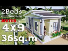 Simple House Design Plans with 3 Bedrooms Full Plans - House Plans One Level House Plans, Simple House Plans, Simple House Design, Shop House Plans, Small House Floor Plans, Modern House Plans, Flat Roof House, 2 Bedroom House Plans, Modern Bungalow House