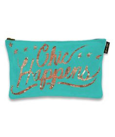 Another great find on #zulily! 'Chic Happens' Pouch #zulilyfinds