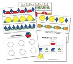 Preschool Pattern Blocks  - pinned by @PediaStaff – Please Visit ht.ly/63sNtfor all our ped therapy, school & special ed pins