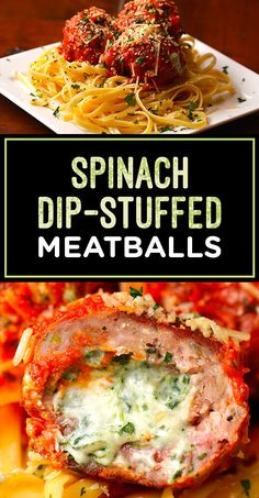 These Spinach Dip–Stuffed Meatballs Are Two Party Foods In One