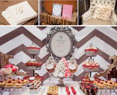 "The fun doesn't have to stop with the reception!  Have a ""next day Bridal Brunch"" for those guests still around.  I love this display of donuts & pastries."