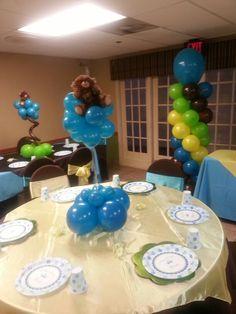 Teddy bear theme baby shower balloons