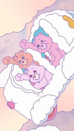 """🎶 """"The Fight Song"""" 🎶 from Care Bears Movie 2 Cute Disney Wallpaper, Kawaii Wallpaper, Cute Wallpaper Backgrounds, Cute Cartoon Wallpapers, Wallpaper Iphone Cute, Aesthetic Iphone Wallpaper, Care Bears, Bear Wallpaper, Locked Wallpaper"""